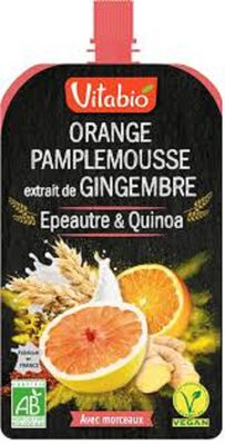 Gourde Orange-Pamplemousse-Gingembre bIO vITABIO 120G