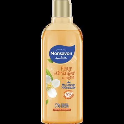 Douche lait hydratant fleur d'oranger MONSAVON, flacon de 300ml