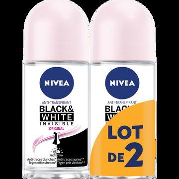 Nivea Déodorant Féminin Invisible Black & White Clear Nivea, 2x50ml