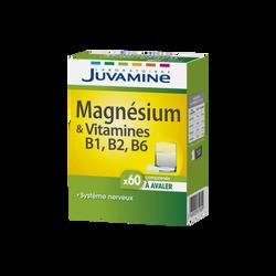 JUVAMINE MAGNÉSIUM + VITAMINES B1, B2, B6, 60 comprimés à avaler
