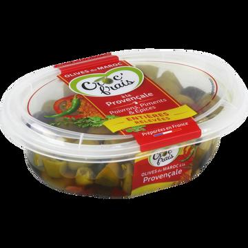 Croc' frais Olives Vertes Et Noires À La Provençale, Croc'frais, Sans Conservateur, Barquette 250g