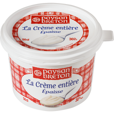 Crème épaisse lait, pasteurisé PAYSAN BRETON, 30% de MG, 50cl