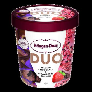 Häagen-Dazs Crème Gacée Duo Belgian Chocolat & Strawberry Haagen Dazs 360g