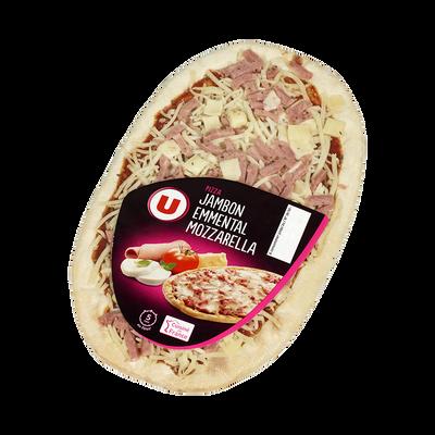 Pizza au jambon, emmental et mozzarella U, 200g