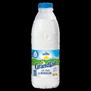 Candia Lait Frais Pasteurisé De Montagne 1/2 Écremé Grandlait Candia Bouteille 1litre