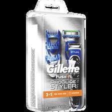 Rasoir fusion proglide styler GILLETTE, + 1 recharge