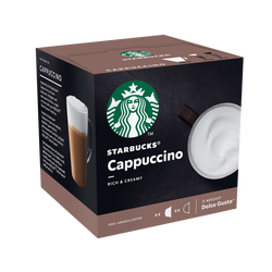 STARBUCKS by dolce gusto cappuccino, x12 capsules, 120g