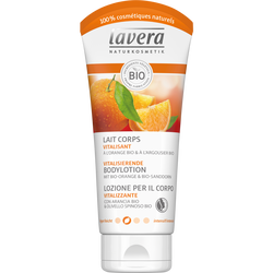 Lait pour le corps vitalisant à l'orange et argousier bio LAVERA, tubede 200ml