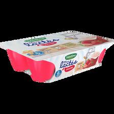 Mini lactés fraise BLEDINA, de 6 à 36 mois, 6 pots de 55g