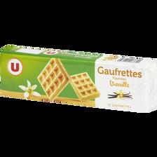 Gaufrettes fourrées vanille U, paquet de 110g