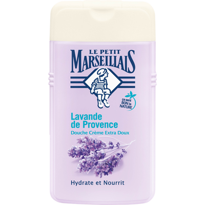 Gel Douche crème extra doux à la lavande de Provence LE PETIT MARSEILLAIS, flacon 250ml
