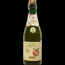 Cidre brut artisanal U, 5,5°, bouteille de 75cl