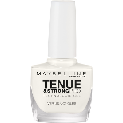 Vernis à ongles tenue & strong pro 71 pure white MAYBELLINE, nu
