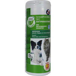 Shampooing sec antiparasitaire chien/chat ECOSOIN 150g