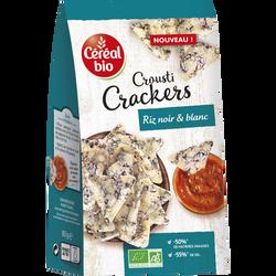Crackers veggie riz blanc et noir BIO CEREAL BIO, sachet de 80g