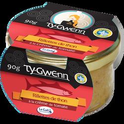 Rillettes de thon à la crème tomate TY GWENN, 90g
