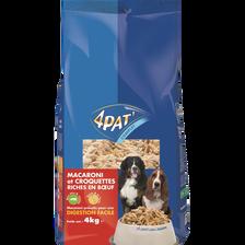Repas complet pour chien aux macaronis et aux viandes 4PAT', 4kg