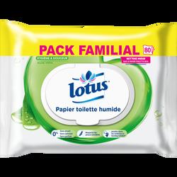 Papier toilette humide aloe vera LOTUS, 80 lingettes