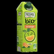 Nectar d'orange BIO nouvelle recette PRESSADE, brique de 1,5l