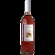 Vin rosé IGP des côteaux de l'Ardèche Le Pas de La Mule, bouteille de75cl