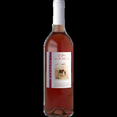 """Vin rosé de pays des Côteaux de l Ardèche """"Le Pas de La Mûle"""", 75cl"""