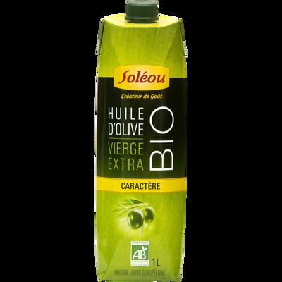 Huile olive vierge extra bio SOLEOU, brique de 1l
