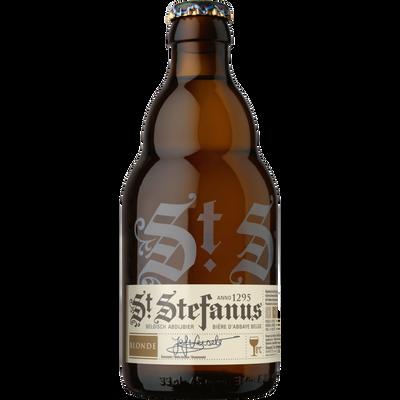 Bière blonde D'ABBAYE ST STEFANUS, 7°, bouteille de 33cl