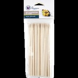Brochettes en bois U, 15cm, pack de 50