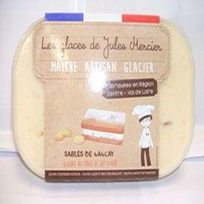 GLACE ARTISANAL SABLES DE NANCAY ET CONFIT DE LAIT ENTIER