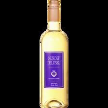 Muscat de Lunel vin doux naturel blanc BORDEAUX BLEUE, 15°, bouteillede 75cl