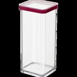 Boite hermétique carrée, loft, en styrolène acrylonitrile 1,5l