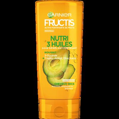Après-shampooing nutri 3 huiles cheveux secs, FRUCTIS, flacon, 200ml