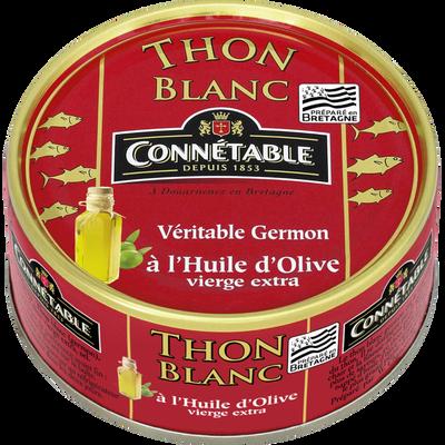 Thon blanc Germon à l'huile d'olive CONNETABLE, 160g