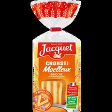 Pain de mie Crousti moelleux brioché JACQUET, paquet de  600g