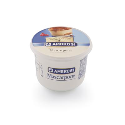 Mascarpone au lait pasteurisé  42% de matière grasse AMBROSI, 500g