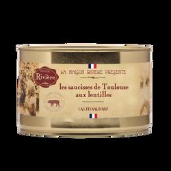 Saucisse de Toulouse aux lentilles MAISON RIVIERE, boîte de 1,580kg