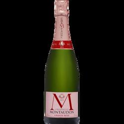 Champagne AOP brut grand rosé MONTAUDON, bouteille de 75cl