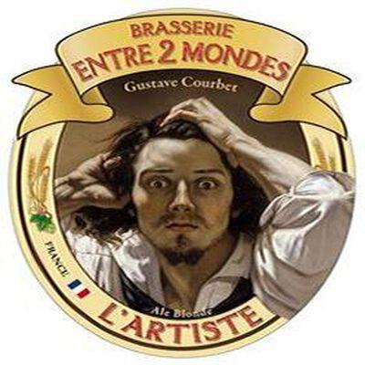 L' ARTISTE BIERE BLONDE BRASSERIE ENTRE 2 MONDES 75 cl