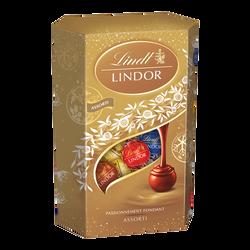 Boules Lindor assortis LINDT, cornet de 337g