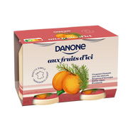 Danone Fruits D'ici Fruits Jaunes Danone, 2x145g
