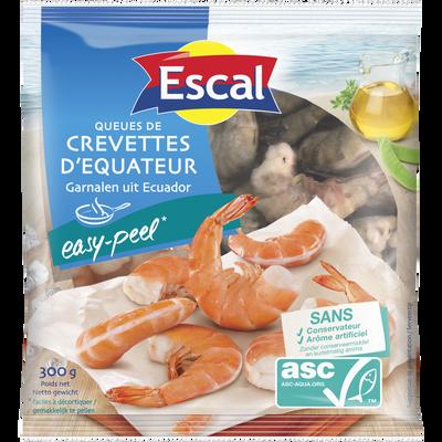 Queues de crevettes easy peel ASC ESCAL, 300g