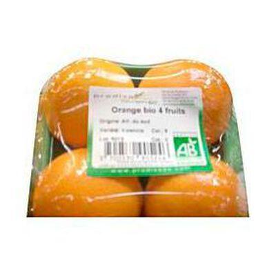 Oranges valencia bio PRODIVA, 4 fruits, 650g