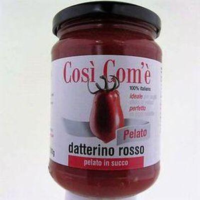 Tomates Datterino rouges entières pelées COSI COM'E ,350g