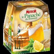 Le panaché du brasseur METEOR, 0,7°,6 bouteilles de 25cl