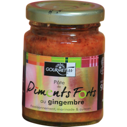Pâte de piment au gingembre GOURMETISS, bocal de 90g