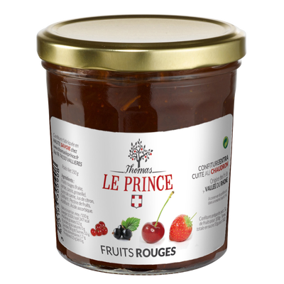 Confiture extra de fruits rouge THOMAS LE PRINCE, 350g