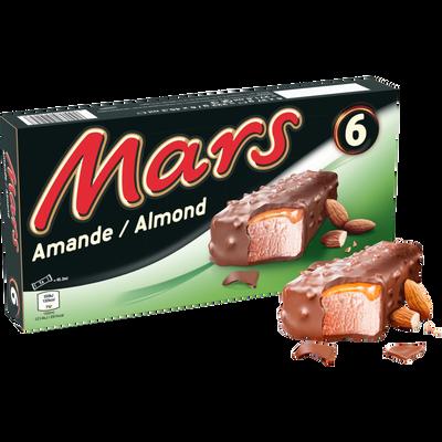 Glace aux amandes MARS, x6 soit 222g