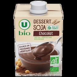 Dessert soja au chocolat U BIO brique 530g