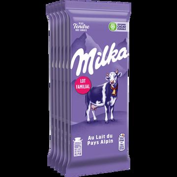 Milka Chocolat Au Lait Milka, 6x00g