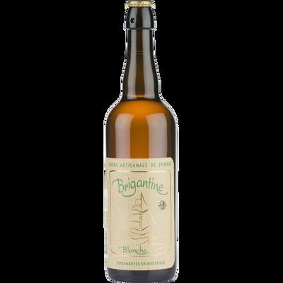 Bière artisanale blanche Brigantine, 5°, bouteille de 75cl